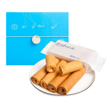 HIWALK Peanut Egg Rolls 7.05oz(200g) 4 Packs (2 rolls per pack), HIWALK 땅콩 에그롤 7.05oz(200g) 4팩 x 2롤,  海邊走走 花生蛋捲 7.05oz(200g) (4X2入)