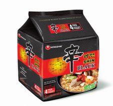 Nongshim Shin Ramen Black 4.85oz(130g) 4 Packs, 농심 신라면 블랙 4.85oz(130g) 4팩