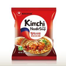 Nongshim Kimchi Ramyun 4.23oz(120g) 4 Packs, 농심 김치라면 4.23oz(120g) 4팩