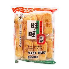 Want Want Rice Crackers Senbei 3.95oz(112g), Want Want 쌀과자 센베이 3.95oz(112g), 旺旺 Rice Crackers Senbei 3.95oz(112g)