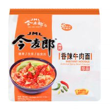 JML Instant Noodle Spicy Beef Flavour 4.13oz(117g) 5 Packs, JML 인스턴트 라면 매운 소고기맛 4.13oz(117g) 5 Packs, 今麥郎 香辣牛肉麵 4.13oz(117g) 5 Packs, JINGMAILANG