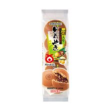 Shirakiku Marukyo Dorayaki - Chestnut (Baked Red Bean Cake) 10.23oz(290g) 5 Pieces, 시라키쿠 마루쿄 도라야끼 - 밤 10.23oz(290g) 5개입