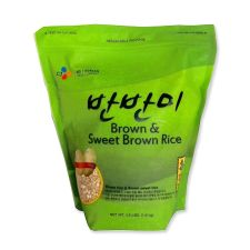 CJ Brown Rice & Brown Sweet Rice (Barn Barn Mee) 3.5lb(1.6kg), 씨제이 반반미 3.5lb(1.6kg), CJ Brown Rice & Brown Sweet Rice (Barn Barn Mee) 3.5lb(1.6kg)