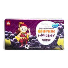 KGC i-Kicker Children's Liquid Herbal Supplement (Ginseng Grape) 3.38oz(100ml) 10 Pouches, 정관장 아이키커 어린이 홍삼 과즙 음료 포도 3.38oz(100ml) 10포, 正官庄 兒童人參葡萄飲 3.38oz(100ml) 10袋