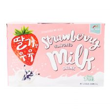Strawberry Flavored Milk Drink 6.76 fl.oz(200ml) 6 Packs