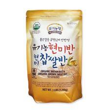 Organic Farm Organic Brown Rice & Organic Brown Sweet Rice 50/50 Blend  3lb(1.36kg), 유기농장 유기농 현미반 현미 찹쌀반  3lb(1.36kg), 有機農場 Organic Brown Rice & Organic Brown Sweet Rice 50/50 Blend  3lb(1.36kg)