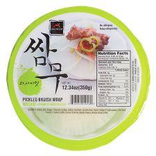 Haioreum Pickled Radish Wrap Japanese Horseradish Flavor 12.34oz (350g), 해오름 쌈무 와사비맛 12.34oz (350g)