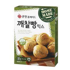 Q1 Sesame Bread Mix 17.6oz(500g), 큐원 깨찰빵 믹스 17.6oz(500g)