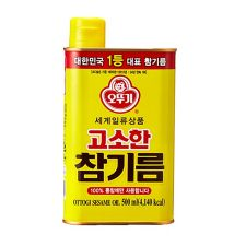 Ottogi Sesame Oil 16.9oz(500ml), 오뚜기 고소한 참기름 16.9oz(500ml)