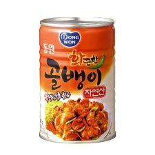 Dongwon Canned Bai-Top Shell (Hot) 14.1oz(400g), 동원 화끈한 자연산 골뱅이 14.1oz(400g)