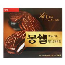 Lotte Moncher Cacao Cake 13.6oz(384g) 12 Pieces, 롯데 몽쉘 카카오 케이크 13.6oz(384g) 12개입