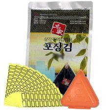 Myungga Laver Roasted Laver 10 sheets with Frame, 명가김 삼각김밥김 10매 + 삼각틀 세트