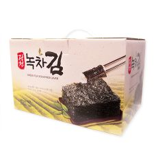 KwangCheon Premium Green Tea Seasoned Laver Gift Box 0.7oz(20g) 10 Packs, 광천 녹차김 선물세트 0.7oz(20g) 10팩, KwangCheon 綠茶海苔 0.7oz(20g) 10包