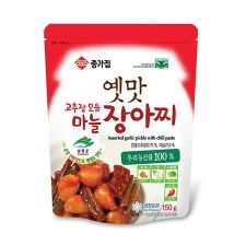 Chongga Assorted Garlic Pickle with Chili Paste 5.3oz(150g),종가집 옛맛 고추장 모듬 마늘 장아찌 5.3oz(150g)