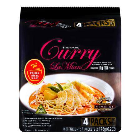 Singapore Curry La Mian Noodle 6.2oz(178g) 4 Packs