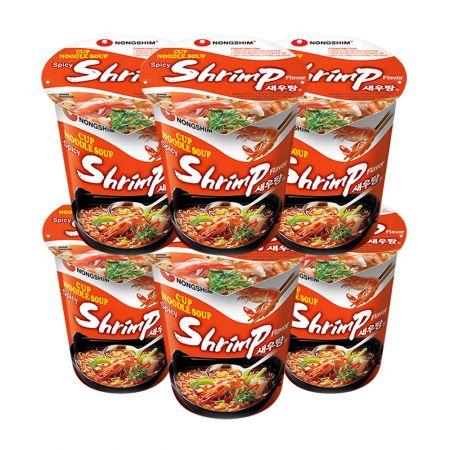Spicy Shrimp Flavor Cup Noodle Soup 2.36oz(67g) 6 Cups