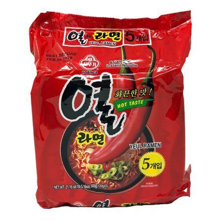 Yeul Ramen Hot Taste  4.23oz(120g) 5 Packs