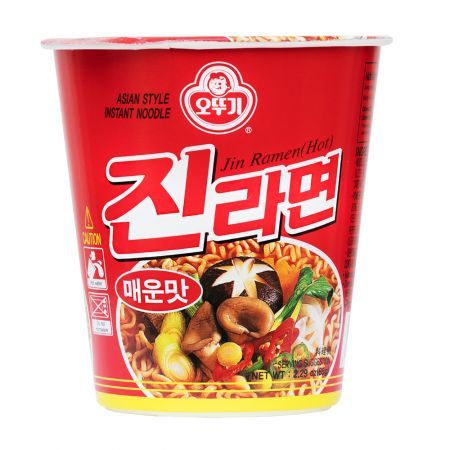 Jin Ramen Cup Hot Flavor 2.3oz(65g) 6 cups