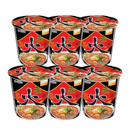 Hwa Noodle Soup Cup Hot & Spicy Flavor 2.29oz(65g) 6 Cups