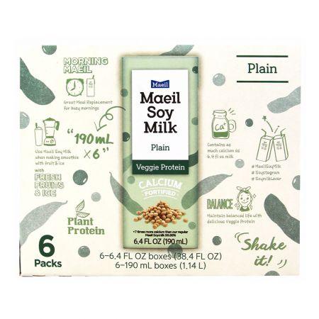 Maeil Soy Milk Plain 6.4 fl.oz(190ml) 6 Packs