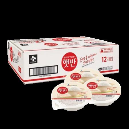 Hatban Cooked White Rice Box 7.4oz(210g) 12 Ea