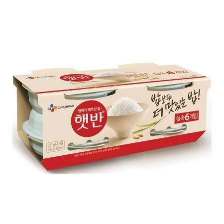 Hetbahn Cooked White Rice 7.4oz(210g) 6 Ea