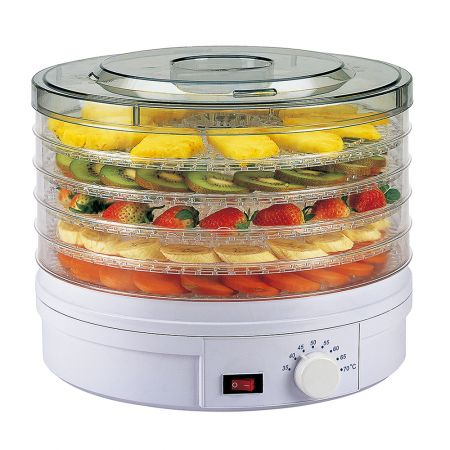 5-Tier Food Dehydrator Round White