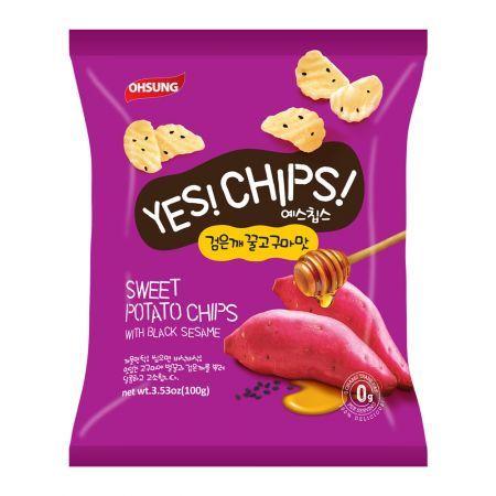 Yes! Chips! Sweet Potato Bites with Black Sesame 3.5oz(100g)
