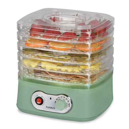5-Tier Mini Food Dehydrator Green 10.23x9.84x9.05in