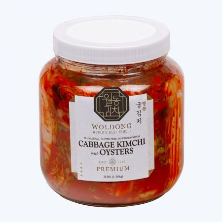 Harvest Premium Cabbage Kimchi with Oyster 3lb(1.36kg)