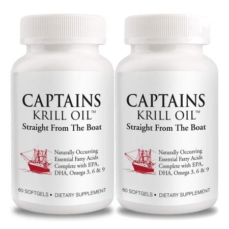 Captains Krill Oil 1,000mg 60 Caps 1+1 Set