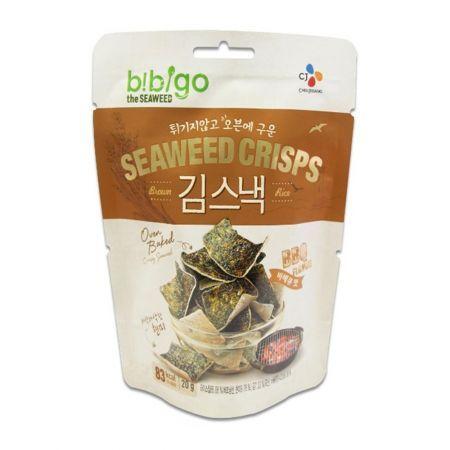 Bibigo Oven Baked Brown Rice Seaweed Crisps BBQ Flavor 0.70oz(20g)