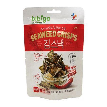Bibigo Oven Baked Brown Rice Seaweed Crisps Hot Spicy Flavor 0.70oz(20g)