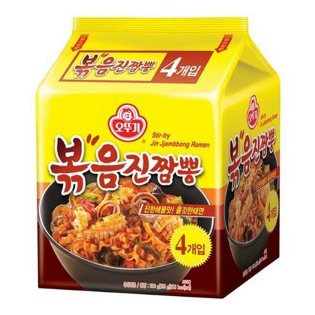 Stir-fry Jin Jjambbong Ramen  4.41oz(125g) 4 Packs