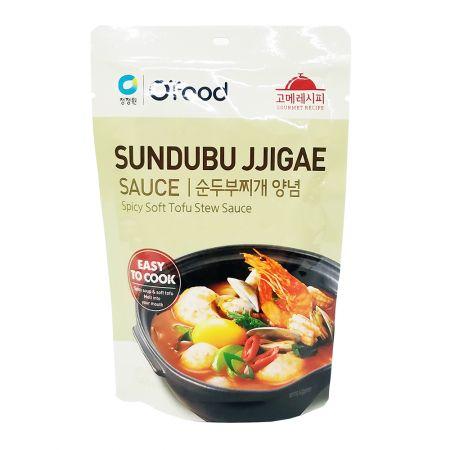 O'Food Spicy Soft Tofu Stew Sauce 4.94oz(140g)