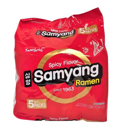 Samyang Ramen Spicy Flavor 4.23oz(120g) 5 Packs