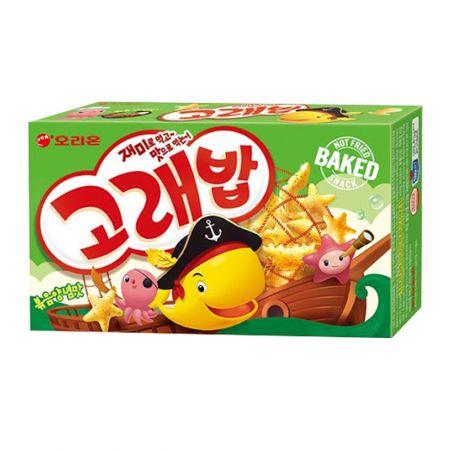 Seafood Shaped Crispy Snack 4 Packs Multi Pack 5.64oz(160g)
