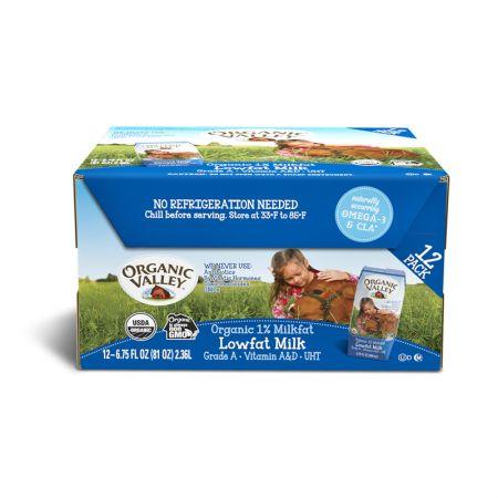 Organic Milk 1% Lowfat Milk 6.75 fl.oz(200ml) 12 Packs