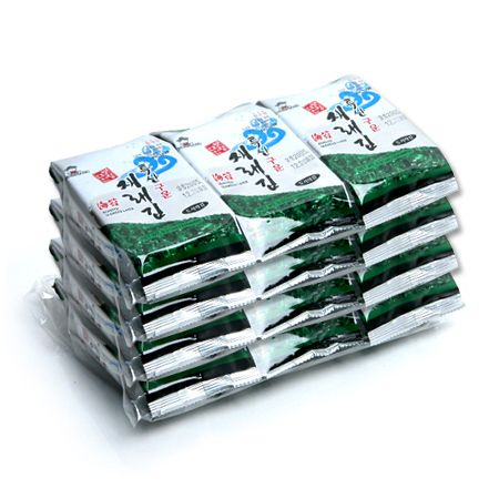 Boryung Daechun Roasted Seaweed Laver 0.21oz(6g) 12 Packs