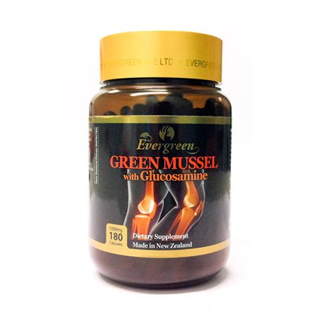 Green Mussel with Glucosamine 1000mg 180 Caps
