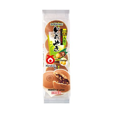 Marukyo Dorayaki - Chestnut (Baked Red Bean Cake) 10.23oz(290g) 5 Pieces