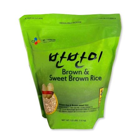 Brown Rice & Brown Sweet Rice (Barn Barn Mee) 3.5lb(1.6kg)