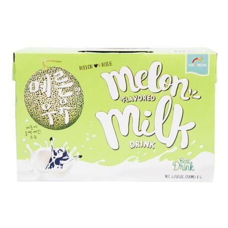 Melon Flavored Milk Drink 6.76oz(200ml) 6 Packs