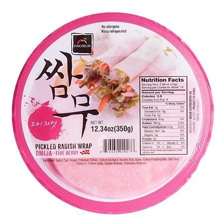 Pickled Radish Wrap Omija-Five Berries 12.34oz(350g)