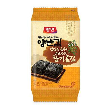 Yangban Sesame Oil Seasoned Laver 0.18oz(5g) x 9 Packs
