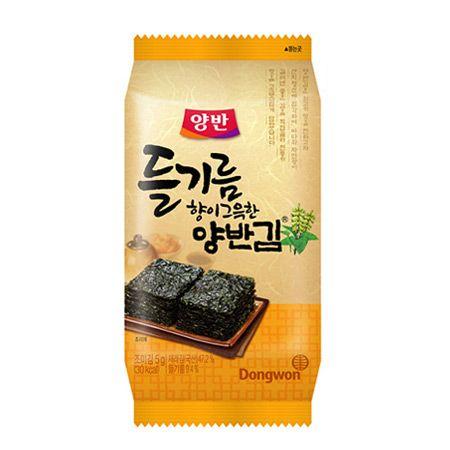 Yangban Perilla Oil Seasoned Laver 9 Packs