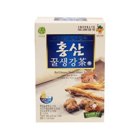 Red Ginseng Honey Ginger Tea 1.13oz(32g) 12 Sticks