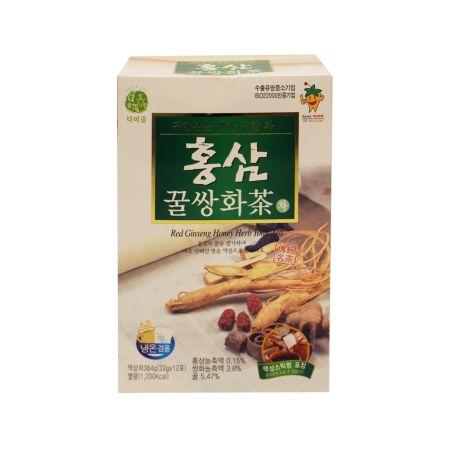 Red Ginseng Honey Herb Tonic Tea 1.13oz(32g) 12 Sticks