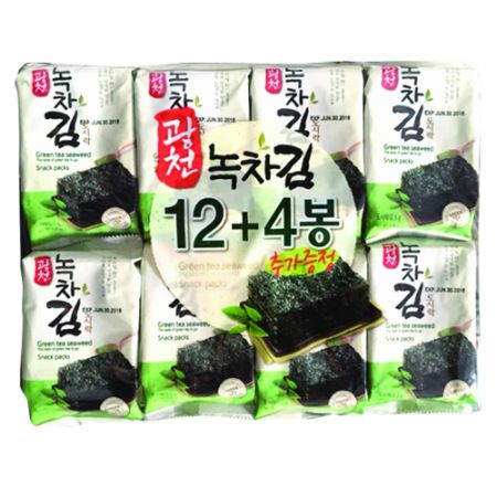 Green Tea Seaweed Snack Packs 0.17oz(5g) 16 Packs
