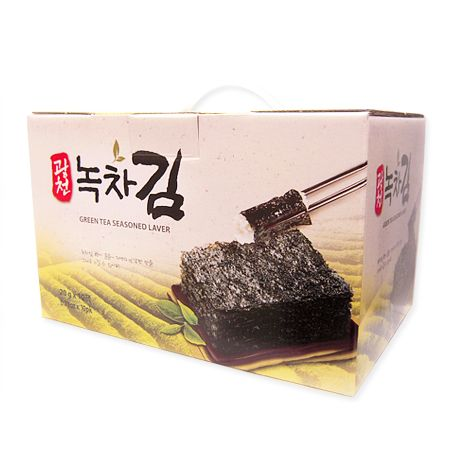 Premium Green Tea Seasoned Laver Gift Box 0.7oz(20g) 10 Packs